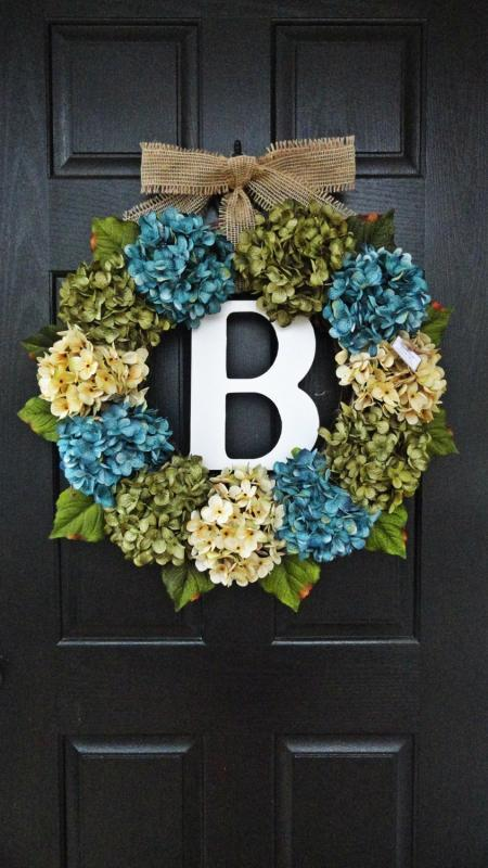 front door monogram30 Beautiful Front Door Monogram Decorating Ideas  Decor Buddha