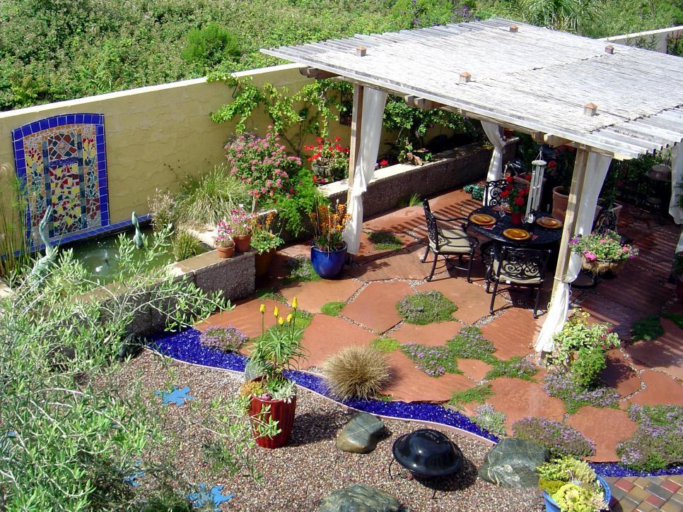 Mediterranean Style Yard Design Ideas