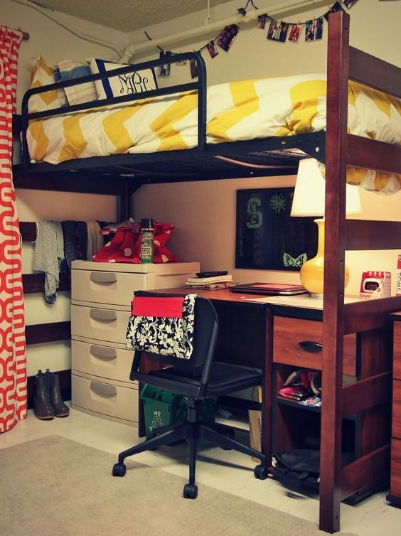 Dorm Room Loft Beds: 30 College Dorm Room Decorating Ideas (you Don't Want To Miss