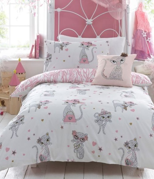 This Cat Comforter Is Just Too Adorable Not To Be Included Those Ears That Stick Out Are Cuteness Overload 30 Cute Themed Bedroom Decorating Ideas Decor