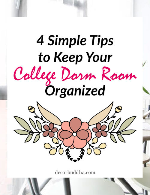 Useful tips on how to keep your college dorm room organized. Small room organization tips.