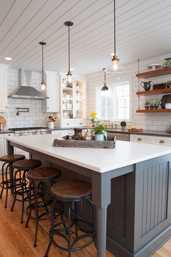 30+ Farmhouse Style Living Room and Kitchen Design Ideas on small house decorating ideas, small beach house kitchen ideas, primitive kitchen ideas, cottage kitchen ideas, farmhouse ideas, small house plans, small farmhouse kitchen, small country cottage kitchens, small farm house landscaping, rustic kitchen ideas,